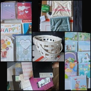 Gift Basket Kit/40 Greeting Cards+More